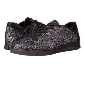 Stuart Weitzman Pipedown Low-top Glitter Sneakers